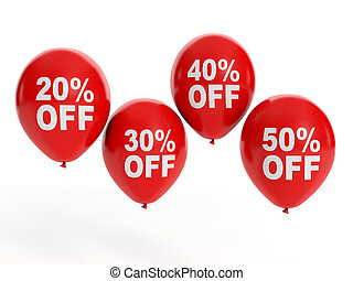 3d illustration: Sale Sale. Balloon and discounts