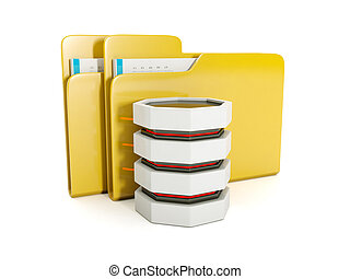 3d illustration: Storing files on your computer hard drive...