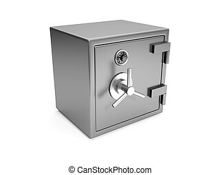 3d illustration: Cash safes closeup