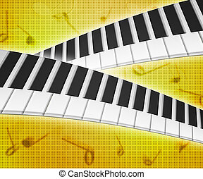 Piano Keys Music Background Texture