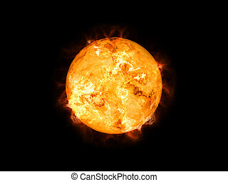 sun in space - An image of a cool sun in space