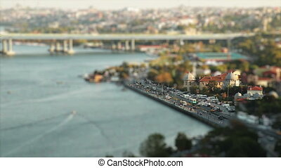 golden horn - miniature effect golden horn at istanbul...