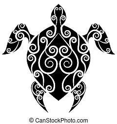 Turtle Swirl Tattoo - An image of a turtle swirl tattoo