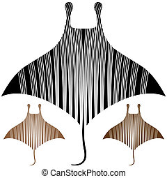 Manta Ray Drawing - An image of a manta ray drawing