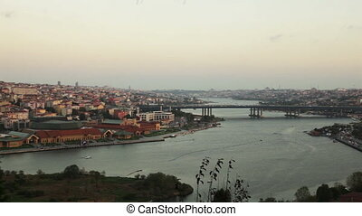 golden horn at istanbul turkey pan shoot