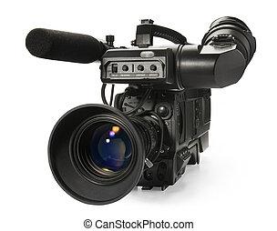 digital, vídeo, cámara