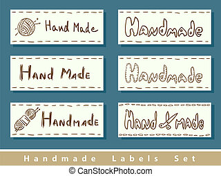 Handmade labels. Vector illustration.