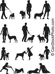 People and dog - A dog - man's most faithful friend,...