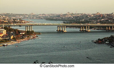 golden horn - time lapse golden horn at istanbul turkey