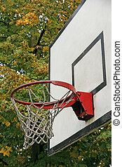 baloncesto, aro, utilizado, antiguo, Capilla, dónde,...