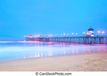 Pier at sunrise - An early morning image of a pier in...