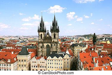 Old Town Square, Tyn Church, Prague