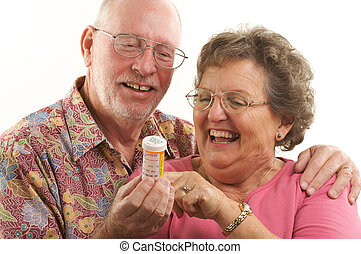 Senior Prescription - Senior Couple reads a prescription...