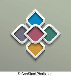 3d color pattern in arabic style Vector illustration