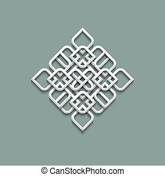 3d pattern in arabic style Vector illustration