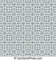 Monochromatic arabic patternSeamless vector
