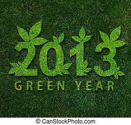 heureux, nouveau, année, 2013