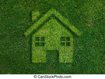 Green home green world - ecology concept, Green home green...