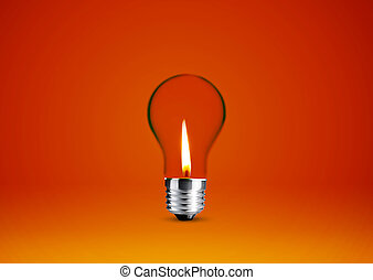 Wax candle into lighting bulb