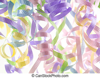 Colored Party Streamers - Multi-Colored Party Streamers on...