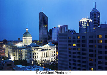 State Capitiol Building in downtown Indianapolis, Indiana.