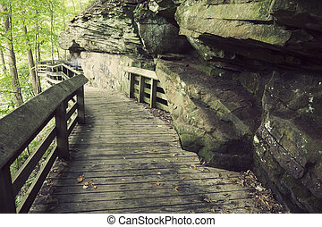 Tourist trail in Cuyahoga Valley National Park - Tourist...