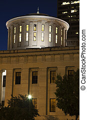 Columbus, Ohio - State Capitol Building at night