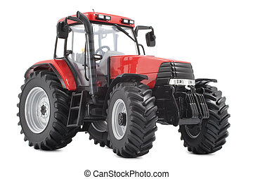 Tractor studio shot on white background