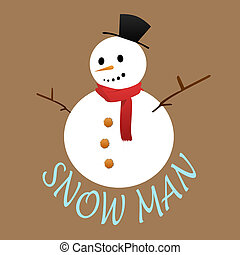 Snow man doll with snow mold