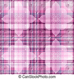 Repeating pink checkered pattern