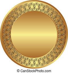 round background - round golden background