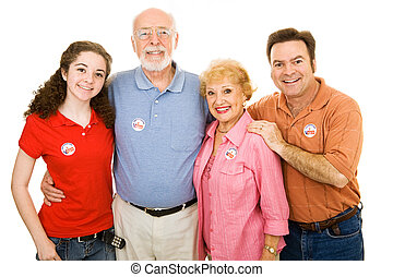American Family Voted - Family of American voters ranging in...