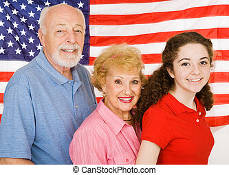 American Grandparents - Grandparents and their granddaughter...
