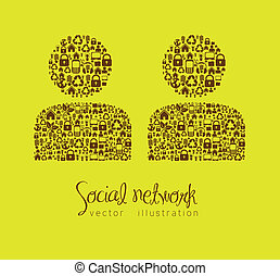 social networking - illustration of social networking,...