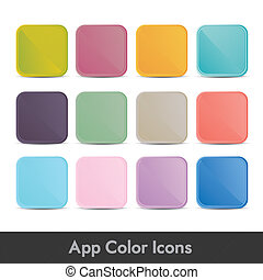 colorful icons for applications - illustration of colorful...