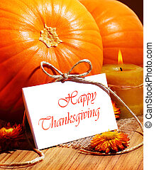 Thanksgiving holiday card - Thanksgiving holiday, pumpkin...