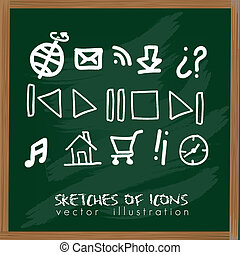 sketches of icons