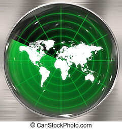 World Radar Screen - A world radar screen - blips can be...
