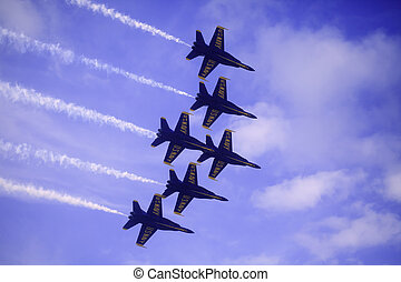 Blue Angels at Kaneohe Airshow - KANEOHE, HI - SEPTEMBER 30,...