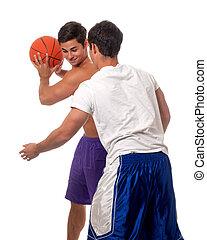 Basketball Players - Male basketball players Studio shot...