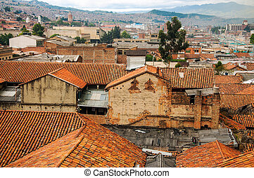 Looking South from La Candelaria - A view of Bogota to the...