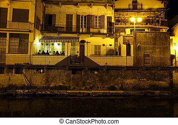 night life - Night life in Omegna, Piedmont, Italy