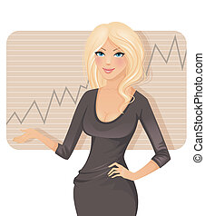 Businesswoman - Vector illustration of Businesswoman