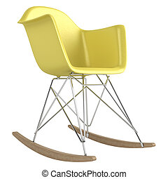 Innovative rocking chair design with a modular seat , metal...
