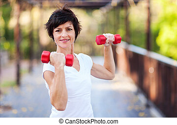 middle aged woman workout - active middle aged woman workout...