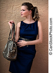 Rich Fashion Woman - Wealthy fashionable luxury woman with...