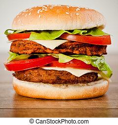 Fast food tasty hamburger