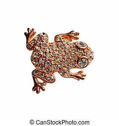 Golden  brooch with frog