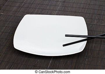emty plate - asian food concept