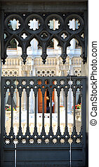 Ciragan Palace Istanbul - a wall ornament of the Ciragan...